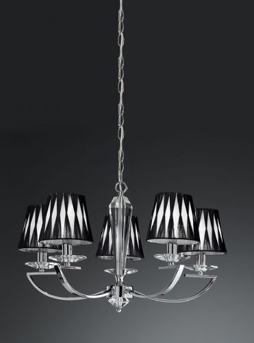 Franklite FL2241/5 Chrome Pendant Light